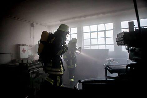 Einsatzübung bei Industriebetrieb in Steppach