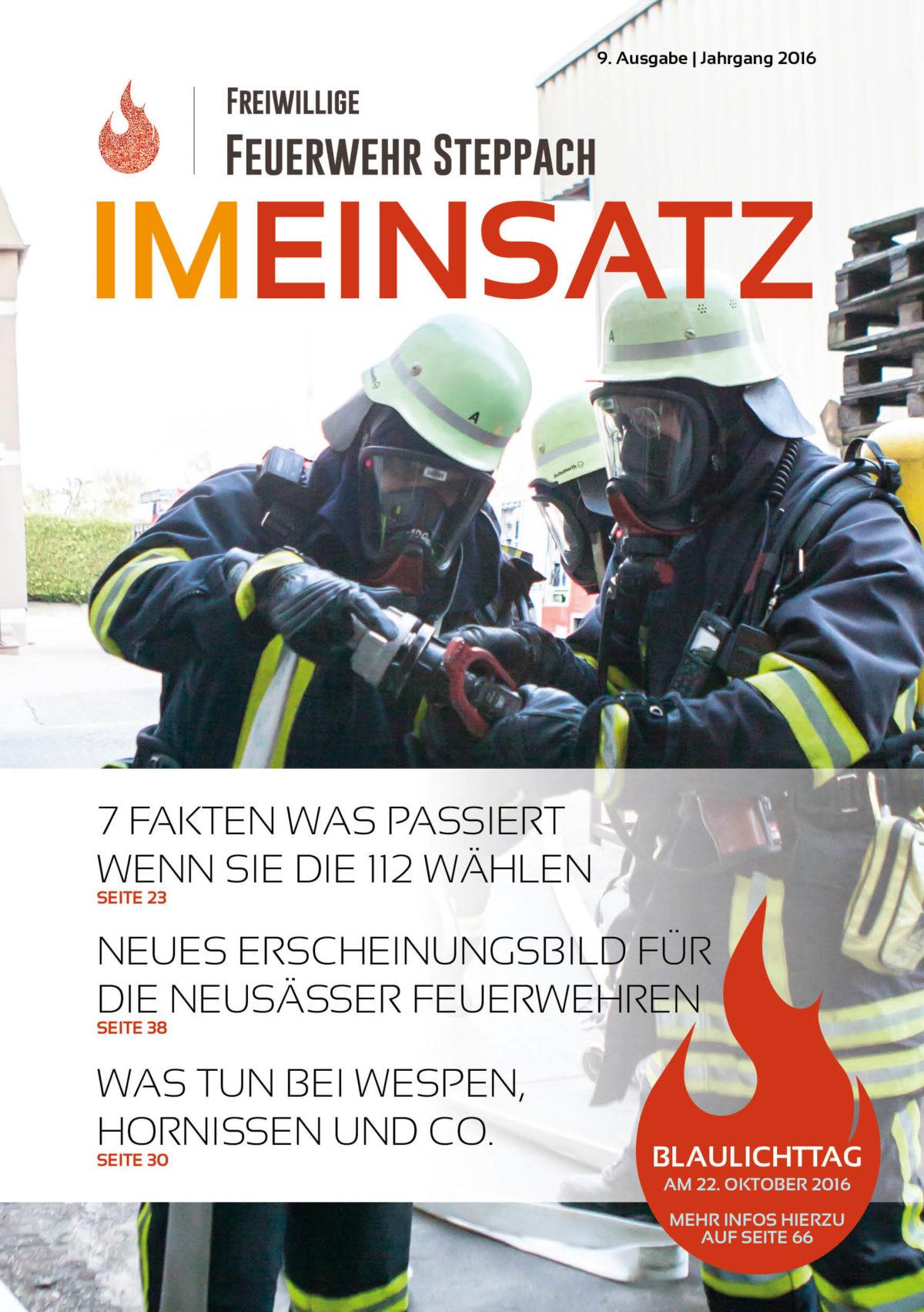 """9. Ausgabe der Vereinszeitschrift """"IM EINSATZ"""" erscheint"""