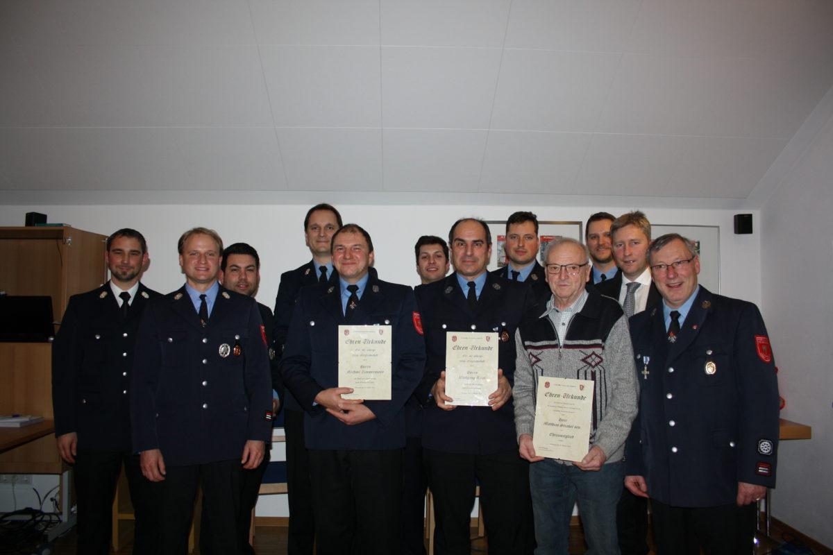 Feuerwehr Steppach blickt auf ein arbeitsreiches Jahr zurück.